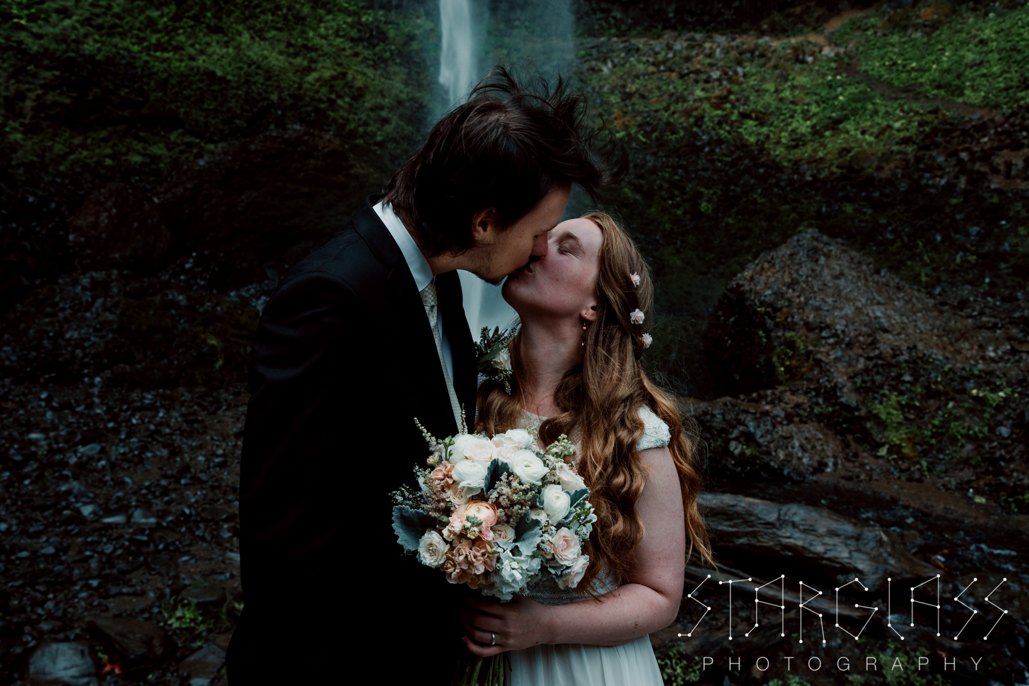Waterfall Portland Elopement