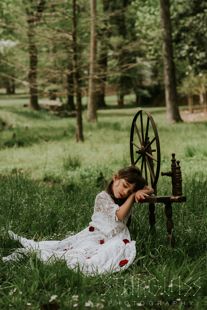 Fairytale child portrait session in Atlanta, Georgia.