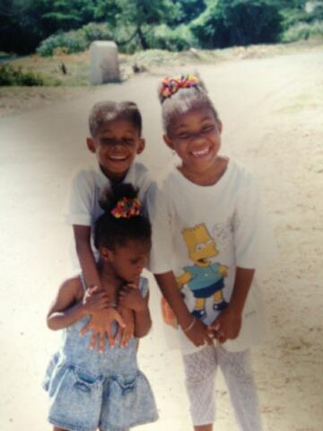 My cousin, sister and I in Jamaica