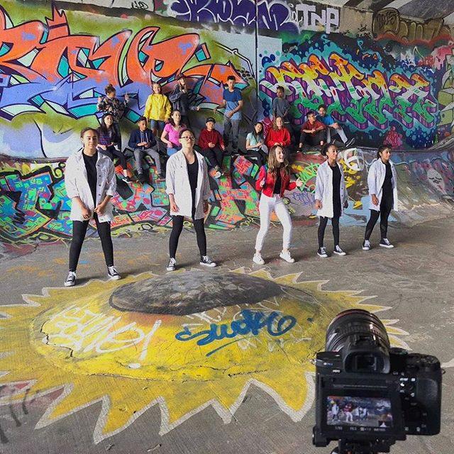 Thank you to everyone who came to the music video shoot today and can't wait for you guys to see it! #nyinmymind