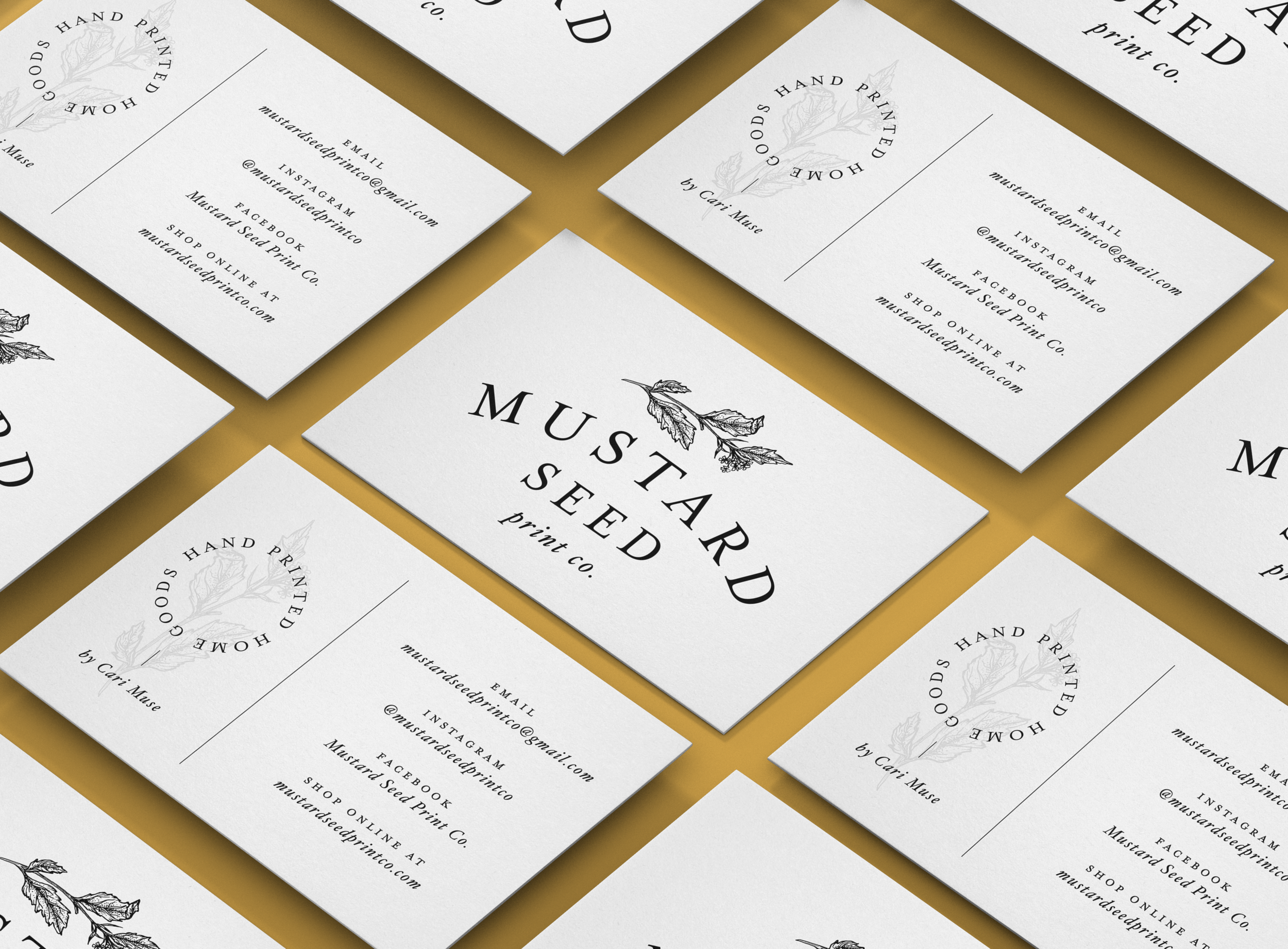Mustard Seed Print Co Logo + Business Card Design