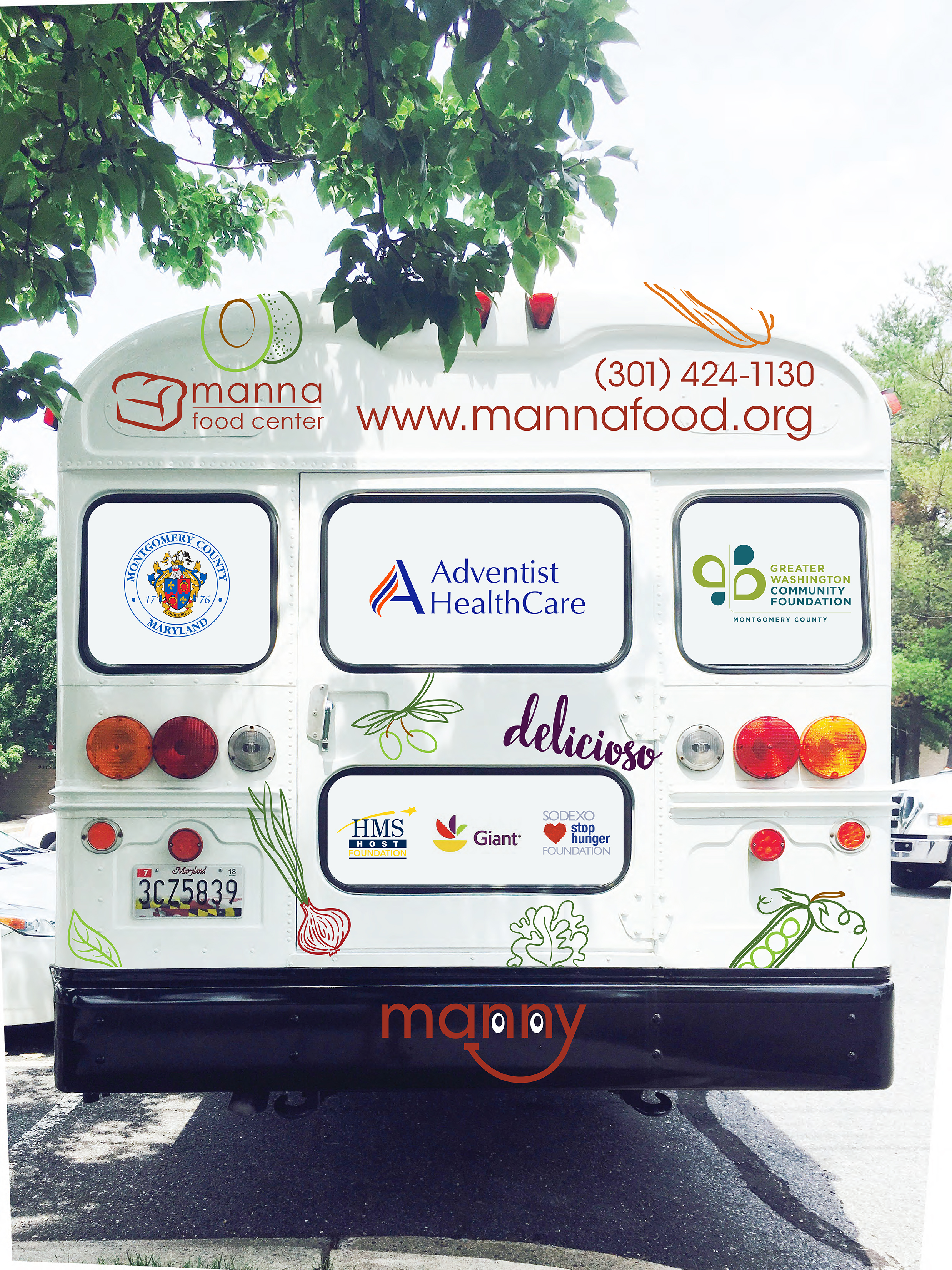 """""""Manny"""" the mobile kitchen and pop-up pantry from Manna Food Center."""