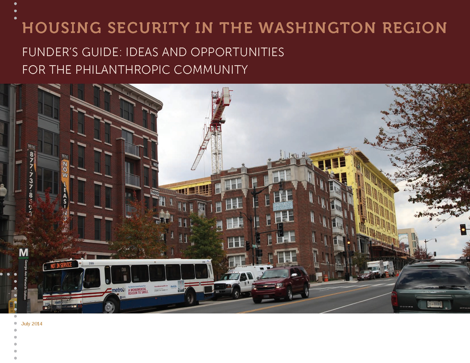 Housing Security in the Washington Region (Funder's Guide)