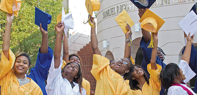 Read how FGCB provides pathways  through high school into college for low- to moderate-income, at-risk, and/or underrepresented youth attending Prince George's County Public Schools.