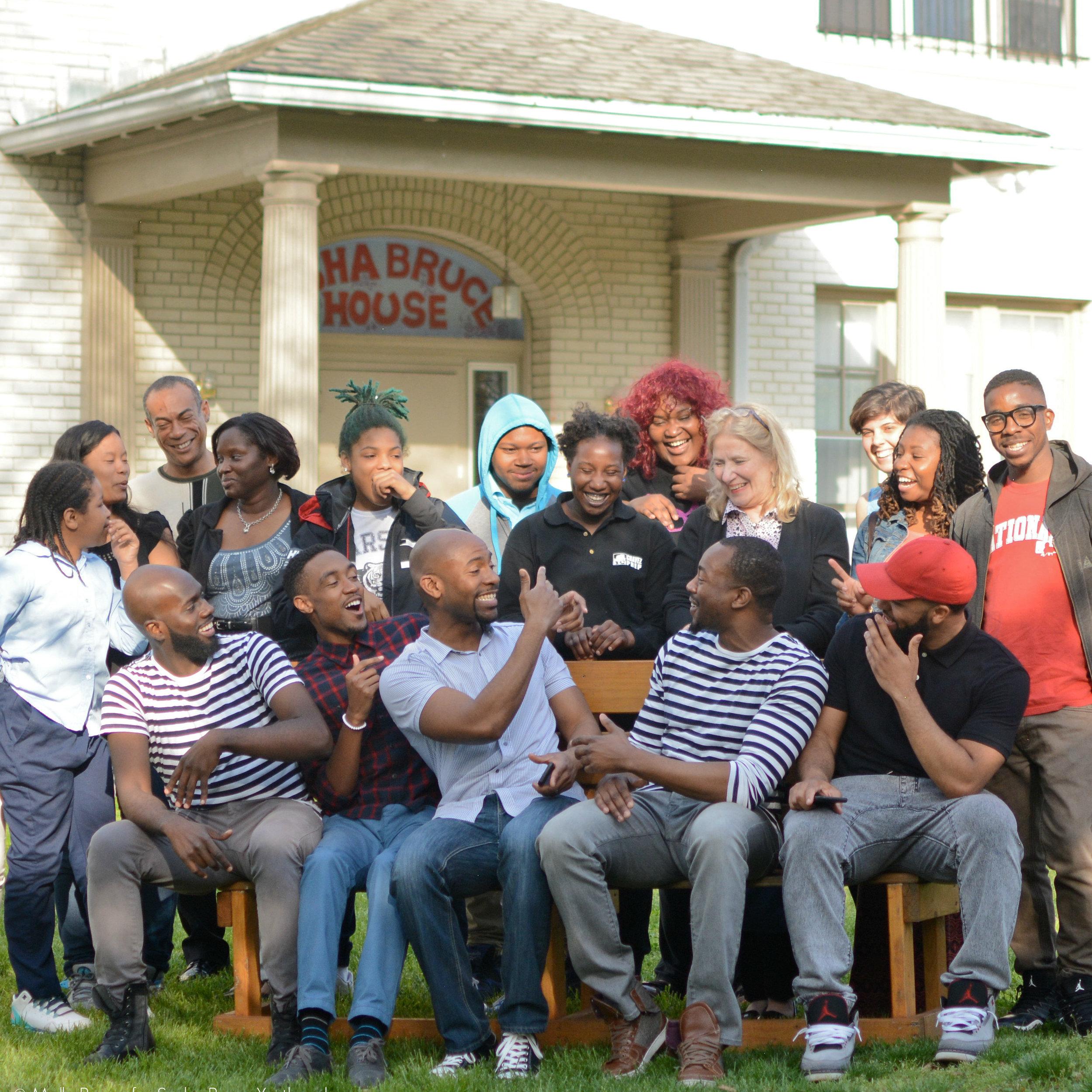 - Sasha Bruce staff and clients at its emergency youth shelter, the Sasha Bruce House.