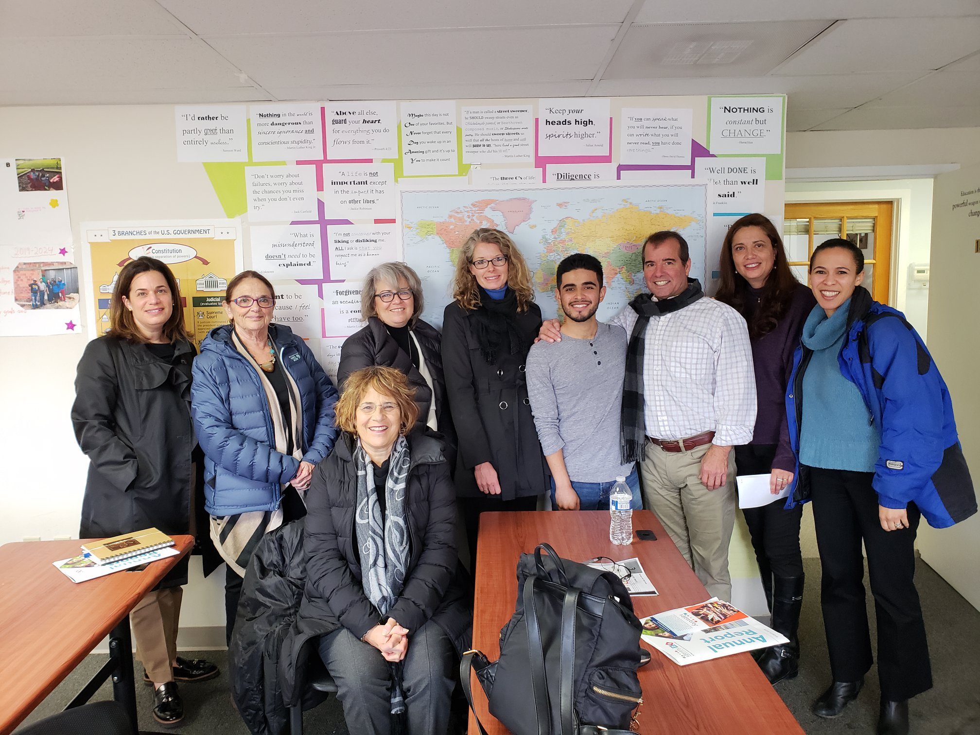 In November 2018, members of our Sharing Montgomery Committee visited the nonprofit Identity to   learn about its trauma-informed, positive youth development approach to serving 3,000 Latino youth and families.