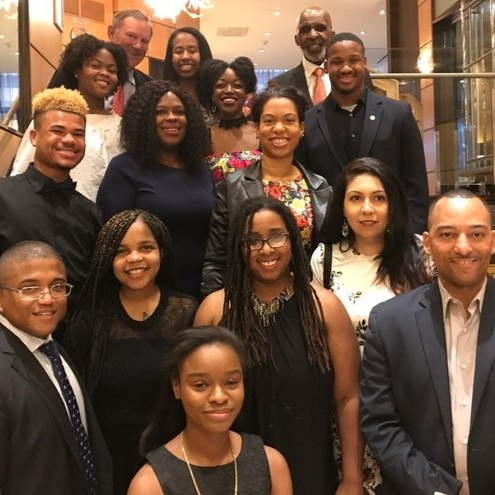 Denton Scholars at the 2018 Awards Banquet.