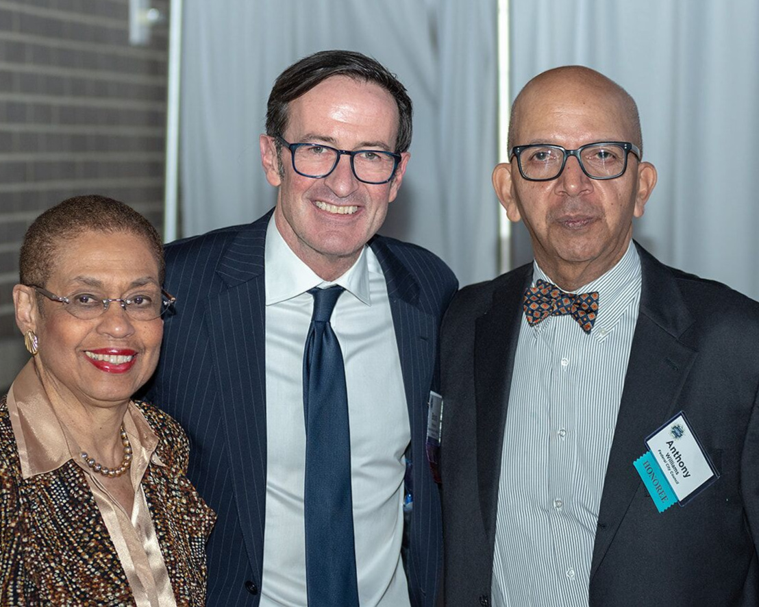 At the Celebration of Philanthropy, Congresswoman Eleanor Holmes Norton and our President and CEO Bruce McNamer present former DC Mayor Anthony Williams with the 2019 Civic Spirit Award.