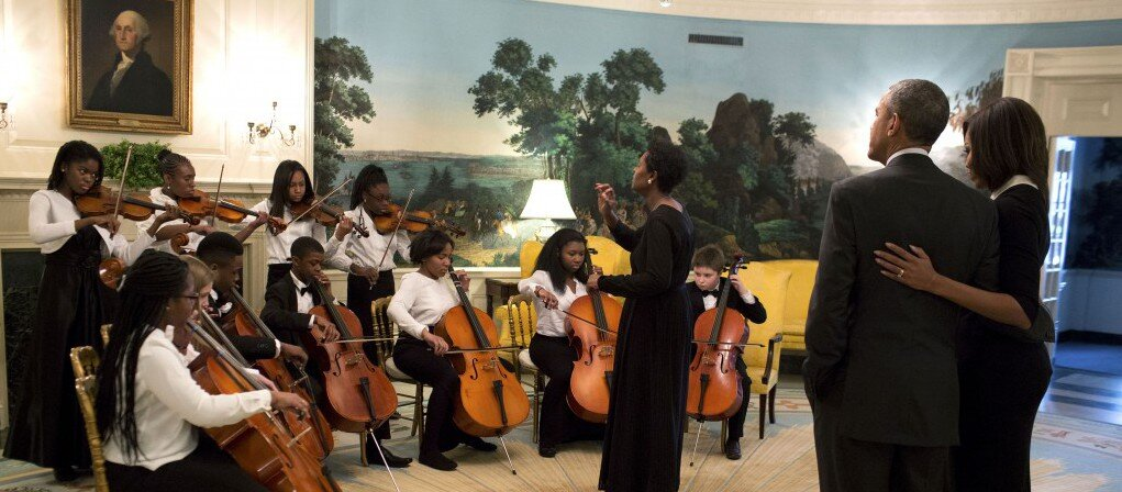 District of Columbia Youth Orchestra, one of the City Fund's grantees, performing at the White House in 2016.