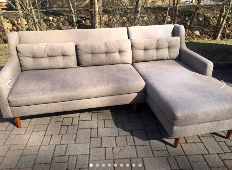 Like New West Elm Crosby Sectional