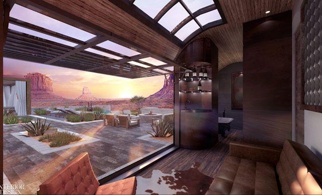 Blown away by this rendering for @radicalinnovationaward by @sbarchitects ......THIS will be a train to ride ✅ . . . . #summerbreak #designbreak #designinspo  #interiordesignmagazine #hospitality #traveler #americanwest