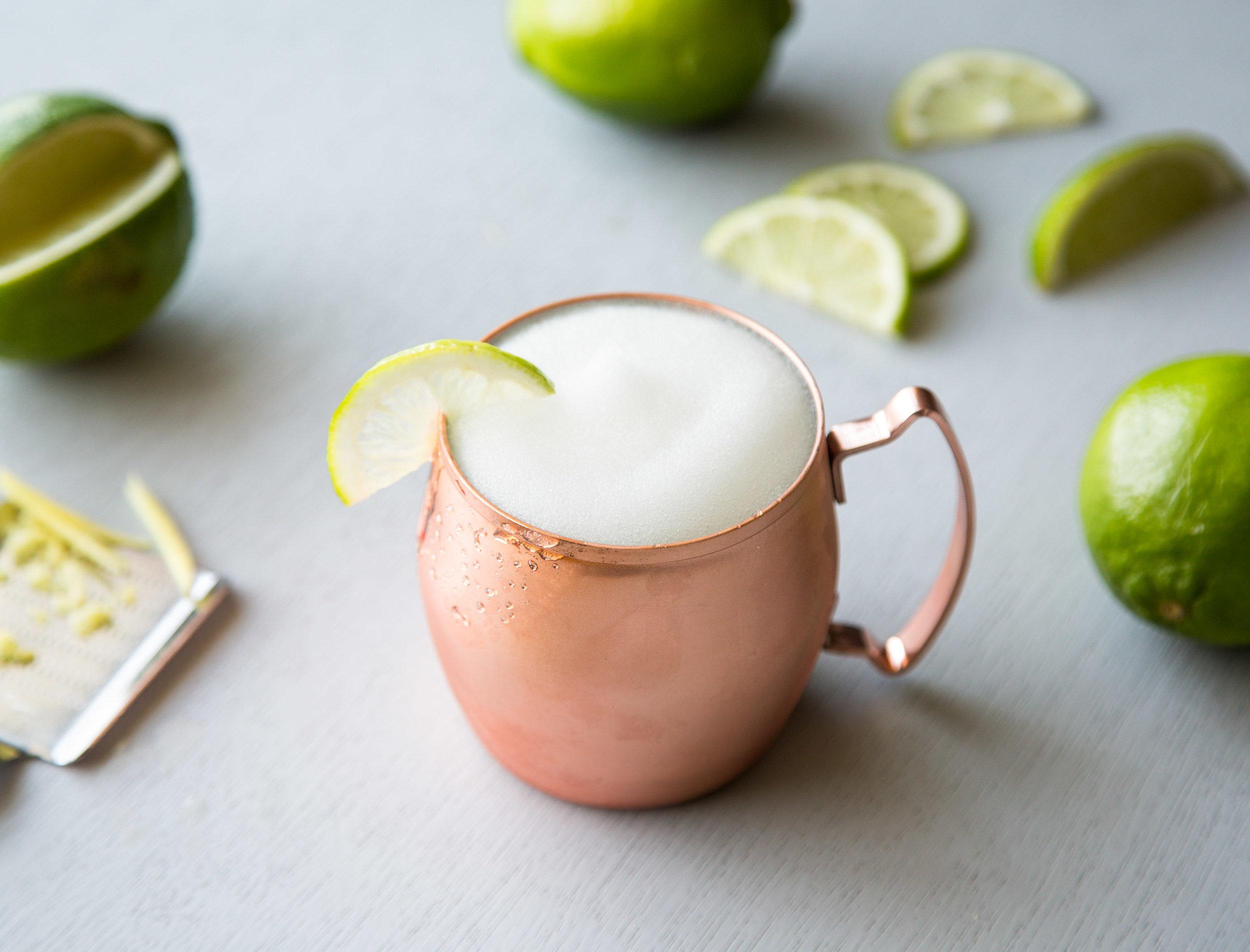 Moscow Mule - Kelvin Ginger Slush,Vodka, Lime Juice