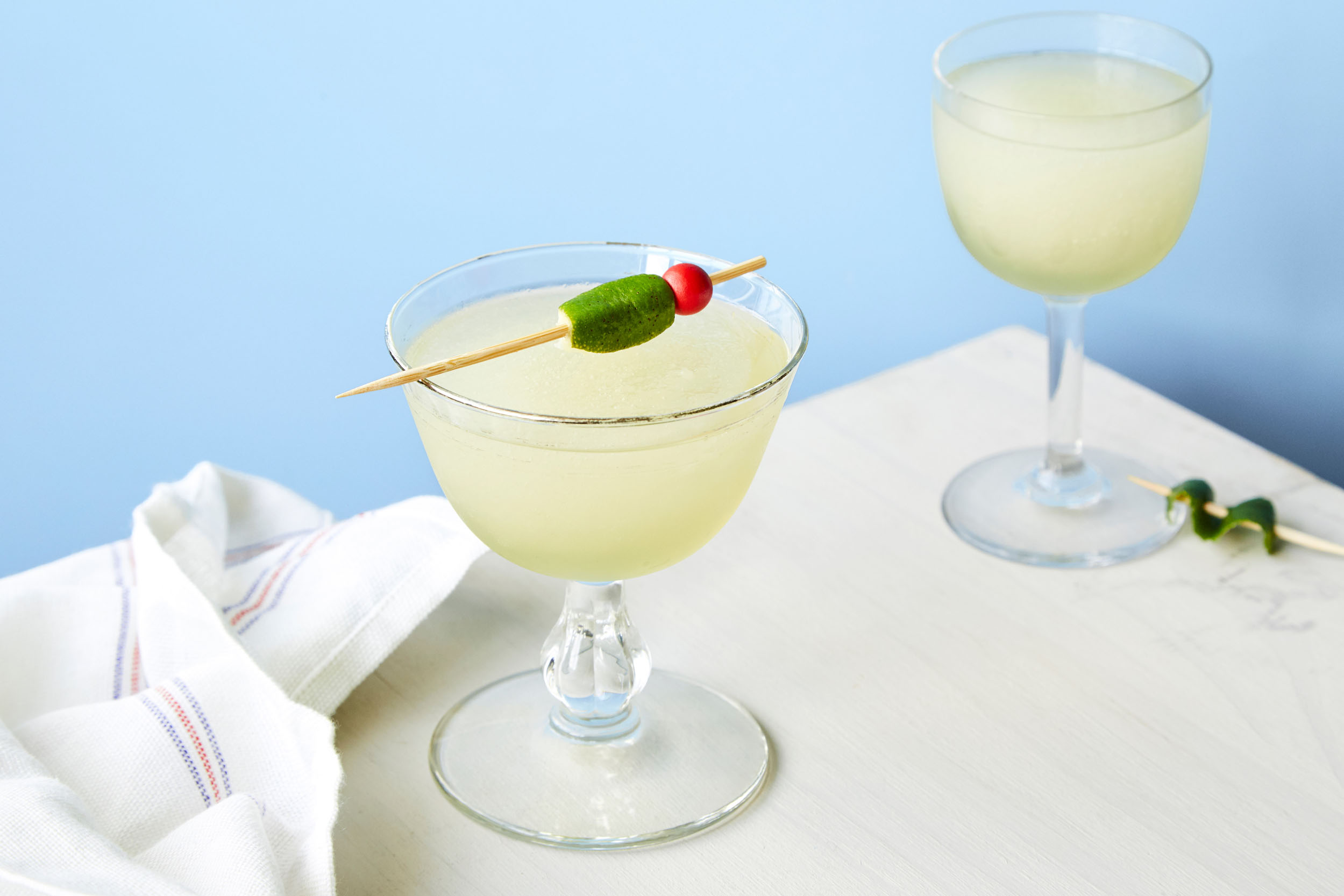 last word - Kelvin Citrus Slush Mix, Gin,Green Chartreuse, Maraschino Liqueur