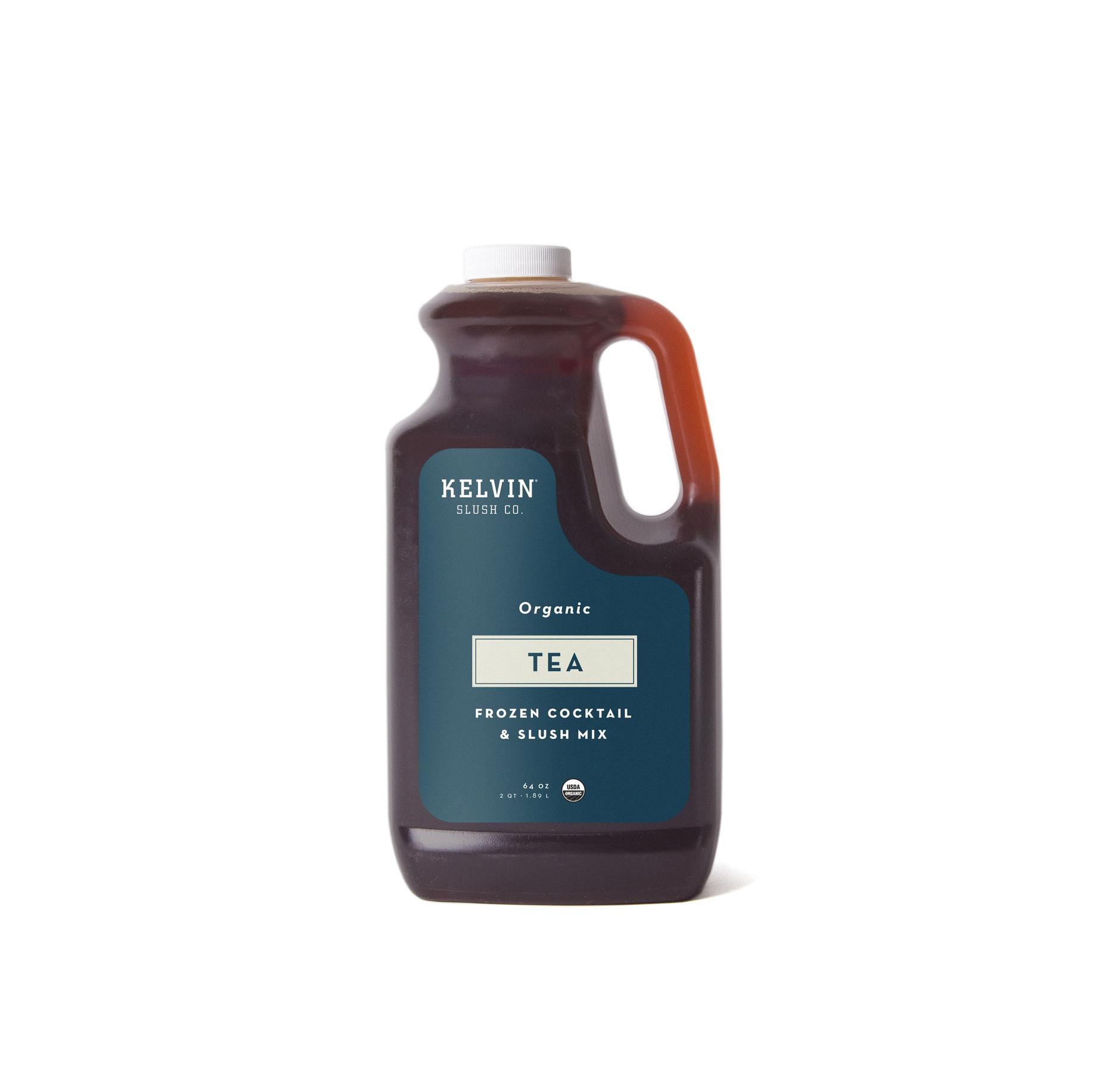 Kelvin Slush Tea mix in a plastic container.