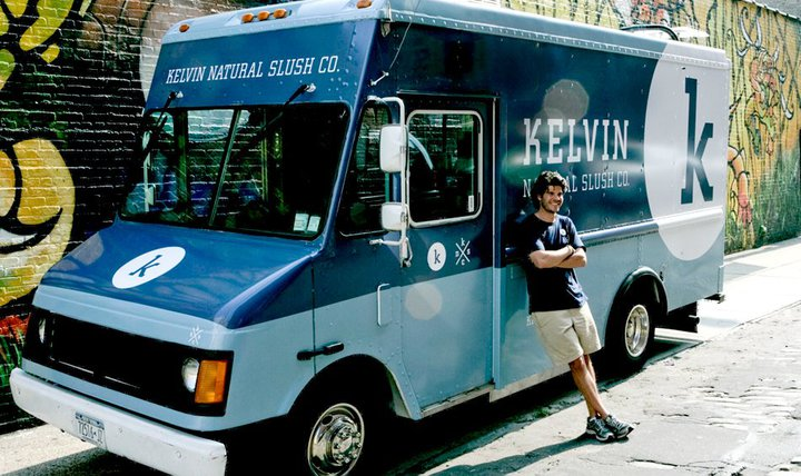 Alex & the Kelvin Slush Co. truck: NYC 2010