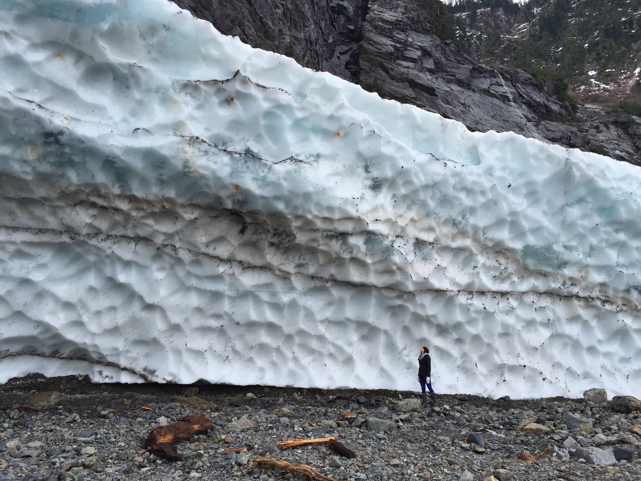 Marveling at the Ice Caves