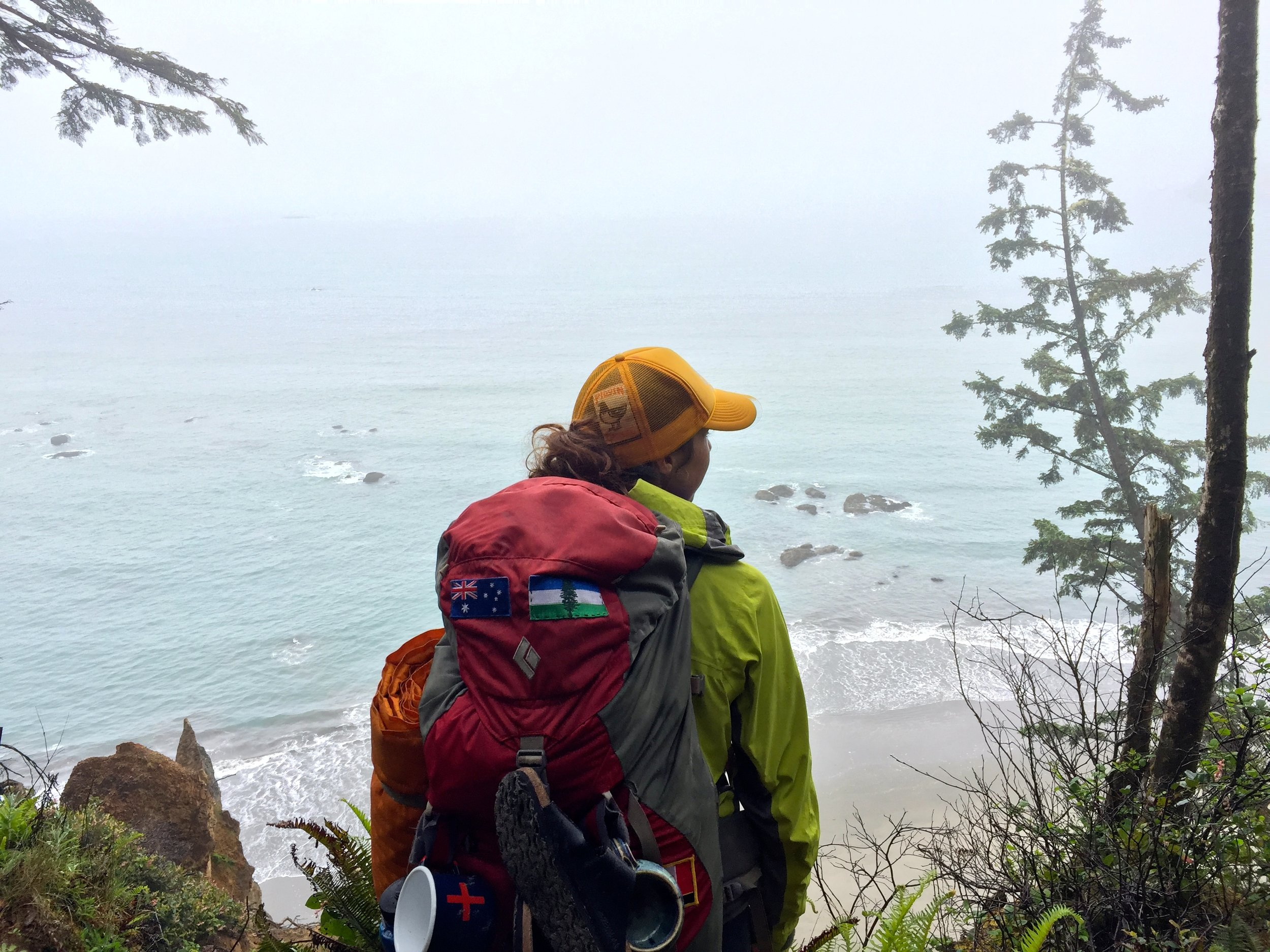 Backpacking at Second Beach in Olympic National Park