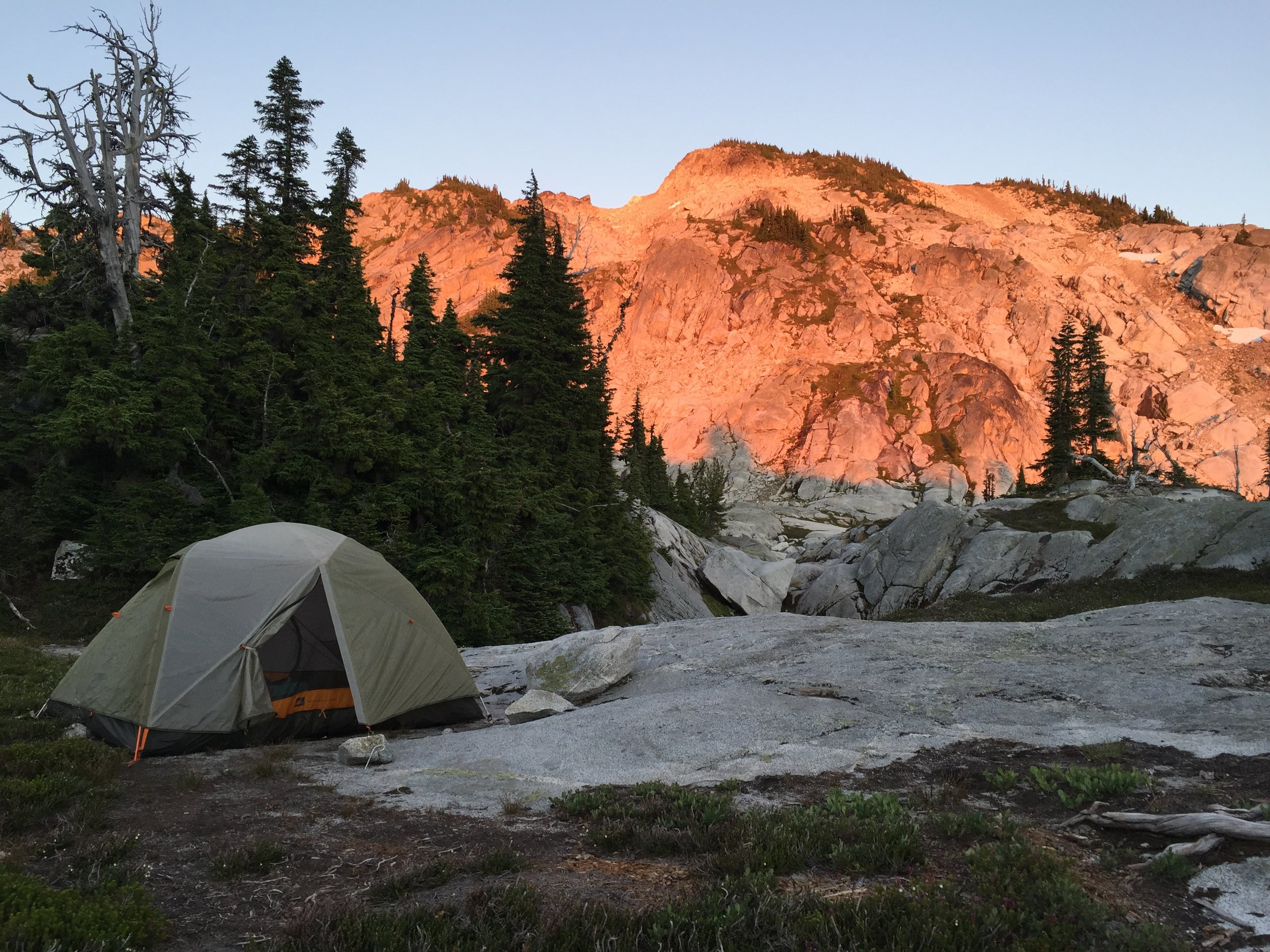 Our campsite in the Okanogan-Wenatchee National Forest