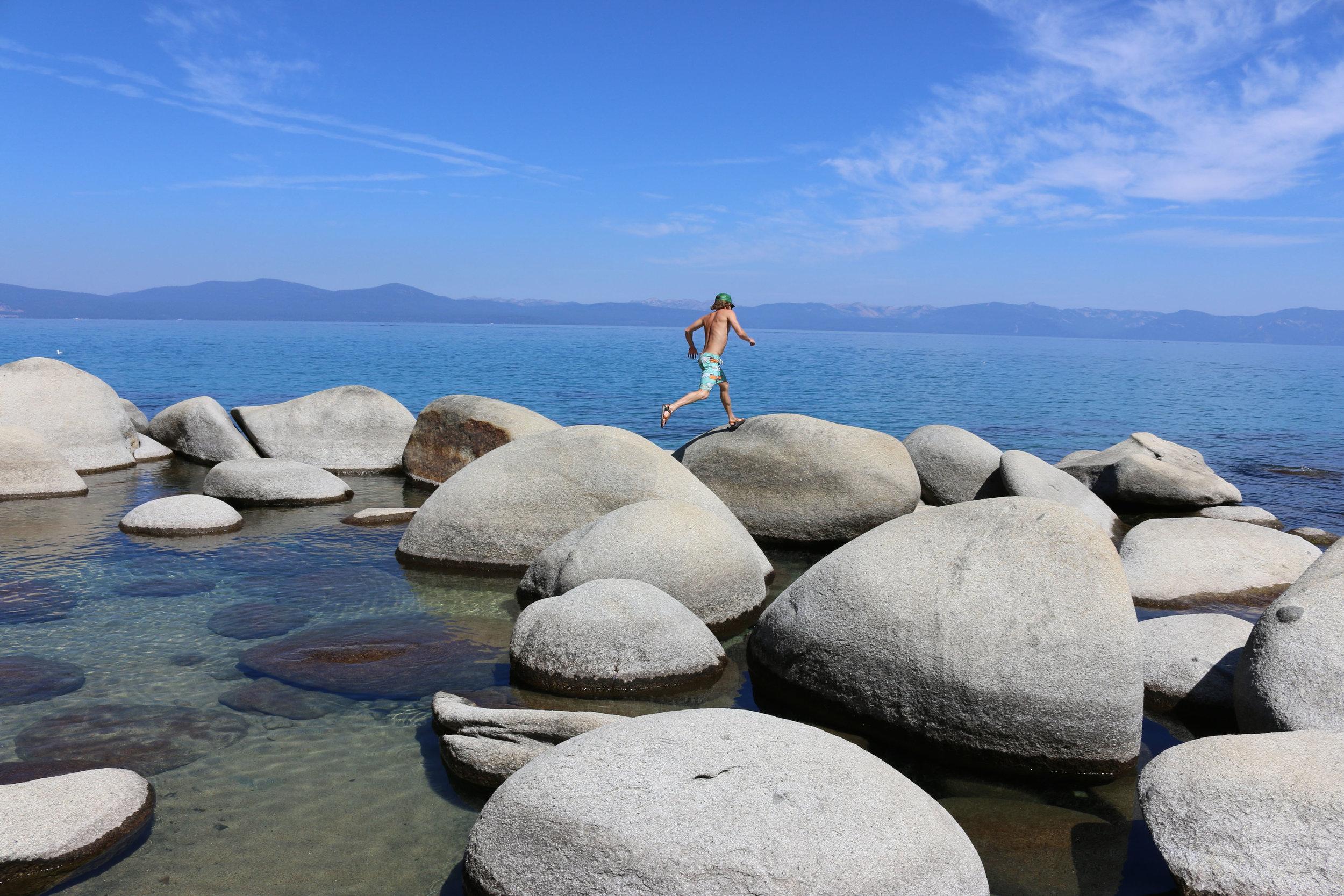 Summer days at Hidden Beach in Lake Tahoe, NV