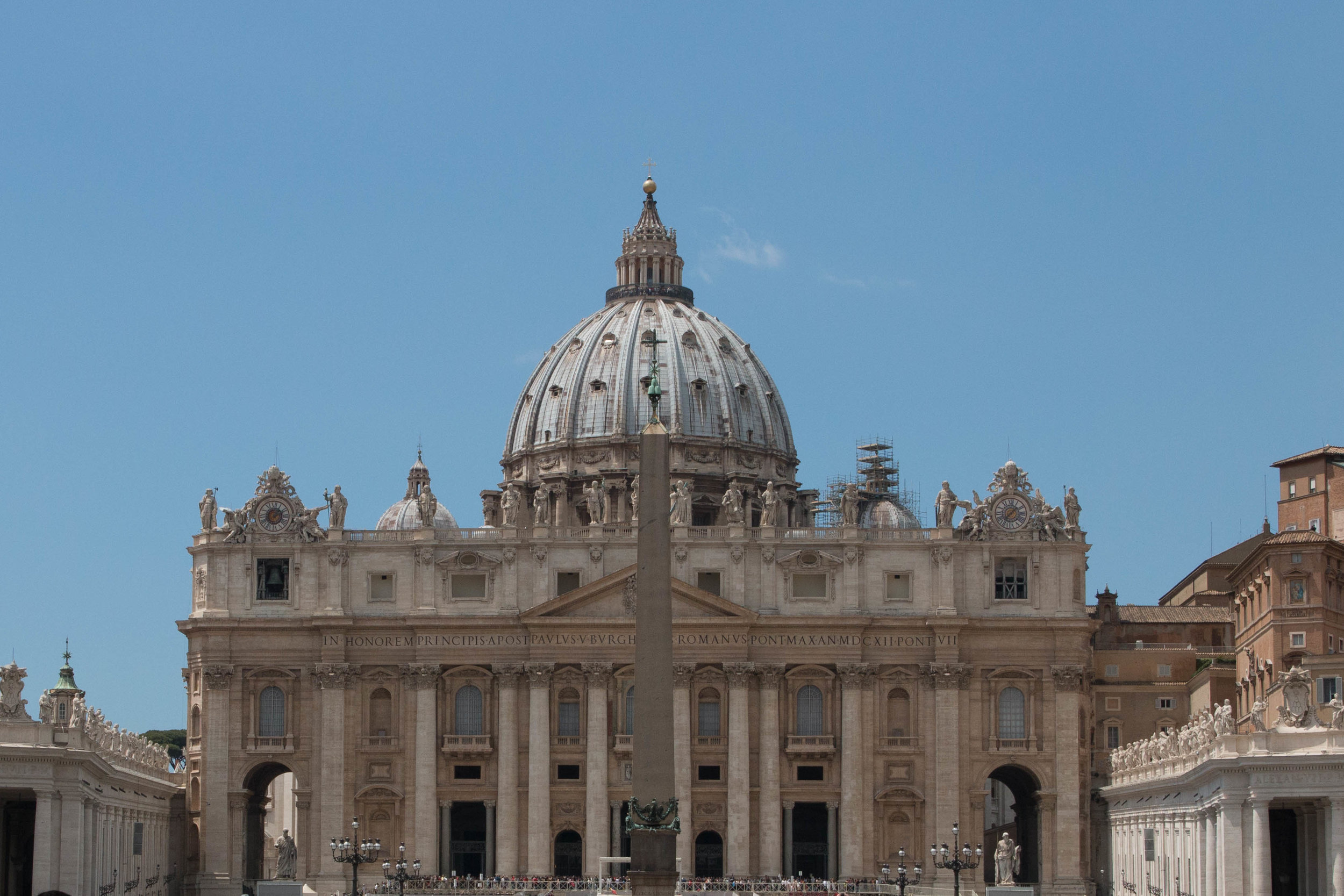 View of St. Peter's Basilica in Vatican City, Spring Europe trip 2017