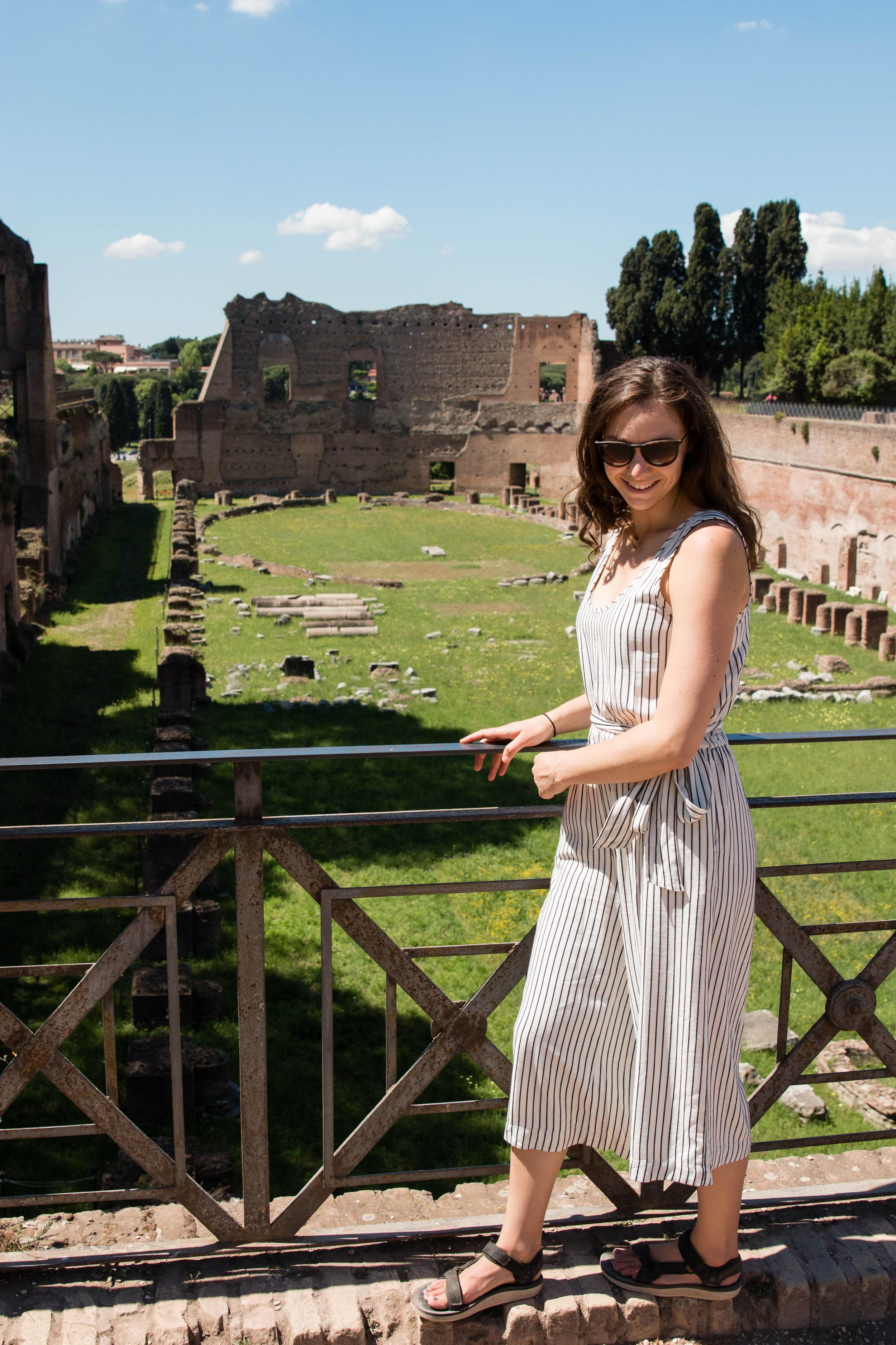 Visitng the Palatine Hill in Rome- Europe trip 2017