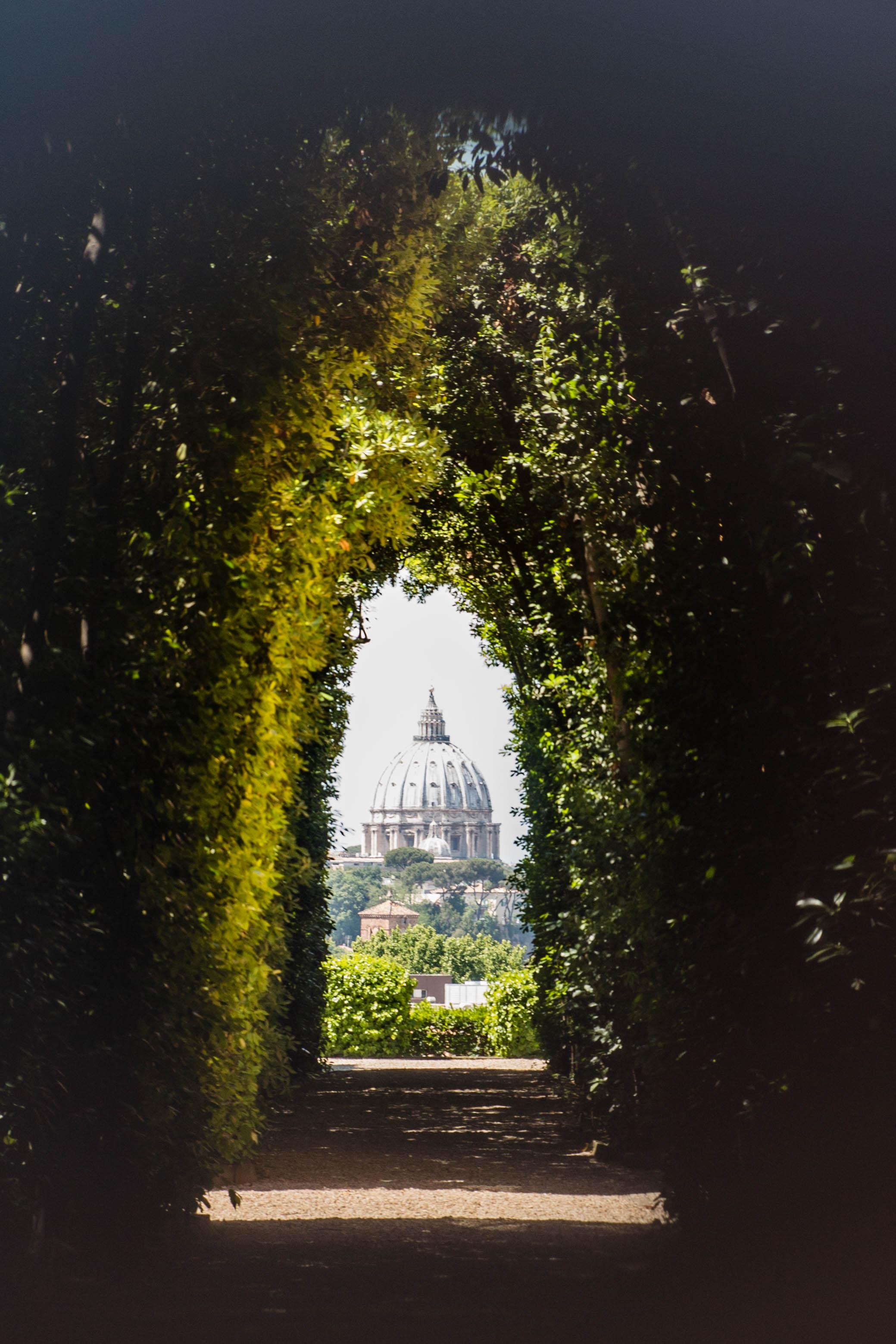 The Secret Keyhole, Aventine Hill, Rome Italy