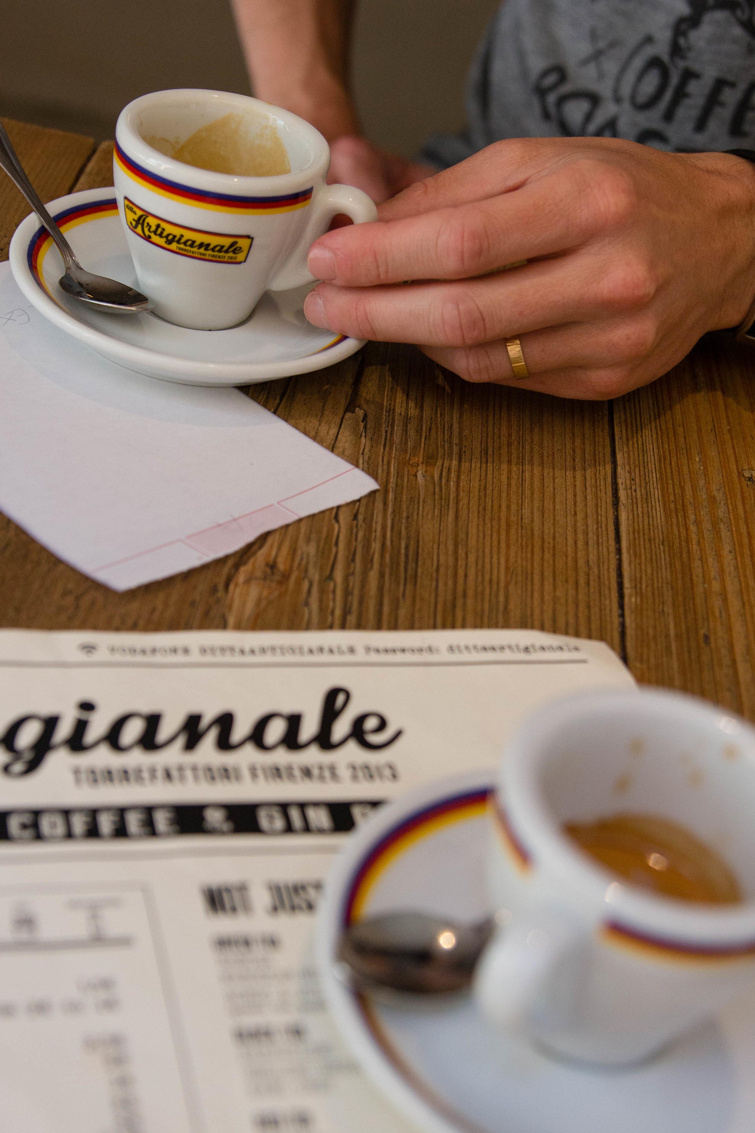 Third wave coffee shop Ditta Artigianale, Florence Italy