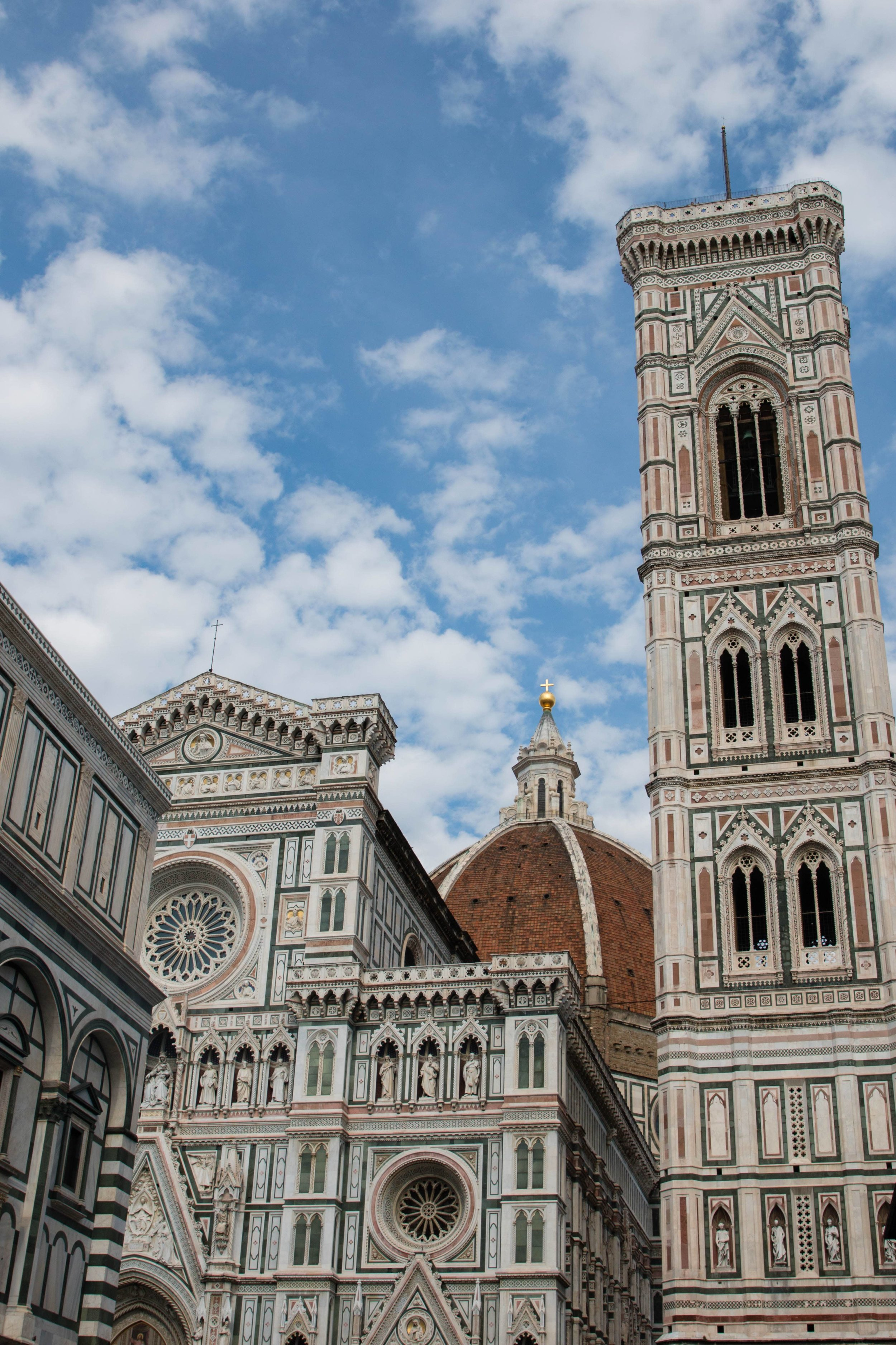 The Duomo, bell tower and Cathedral in Florence, Italy