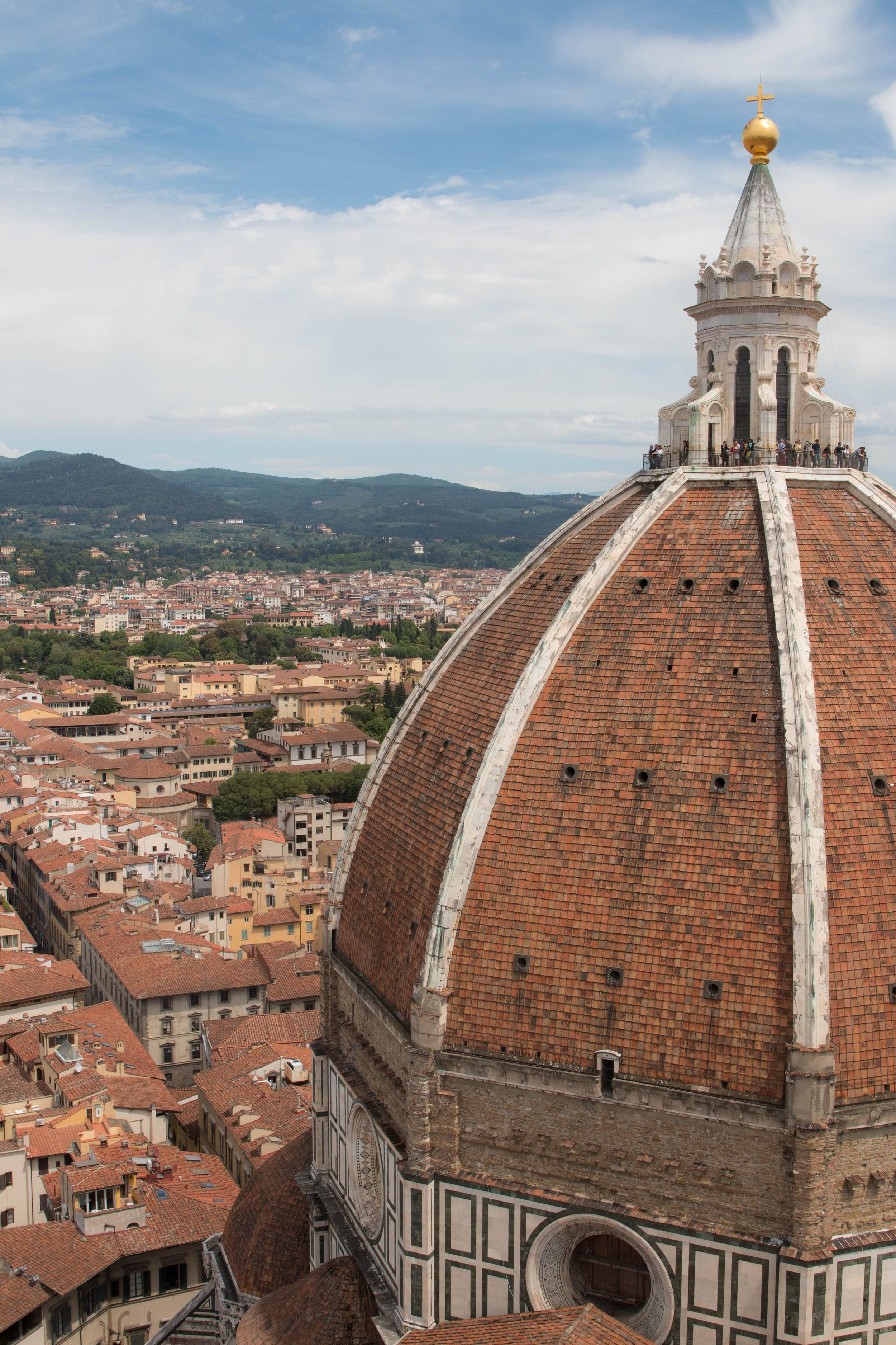 View of Duomo from Giotto's Bell Tower, Florence Italy