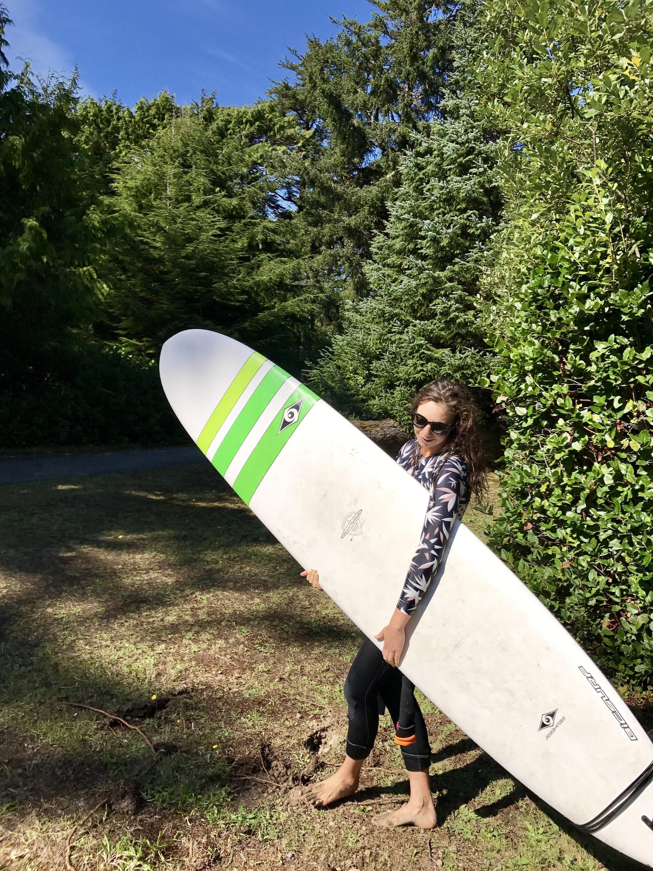 Suring in Tofino - Longboarding Summer 2017