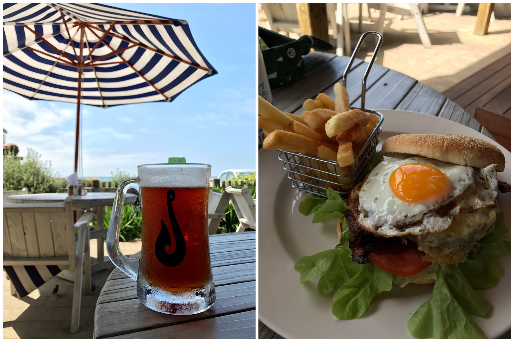But seriously, a burger and beer after hiking is so necessary. The Hooked Cafe is conveniently located right outside the park.