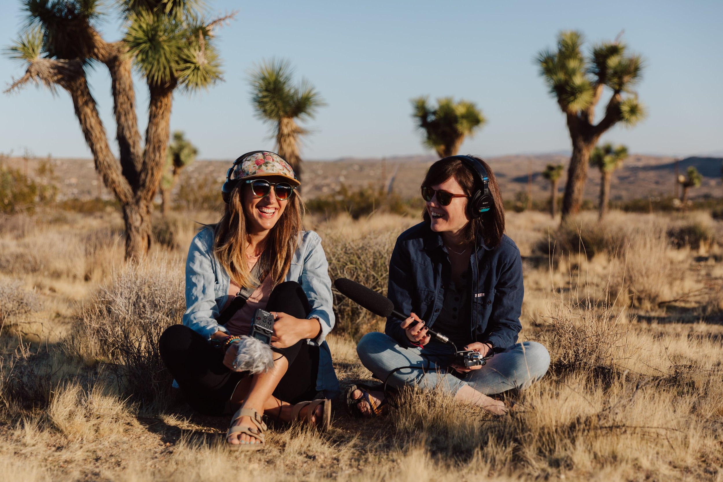 Recording for the Women on the Road Poscast with She-Explores Founder, Gale Straub Photo by  Jules Davies