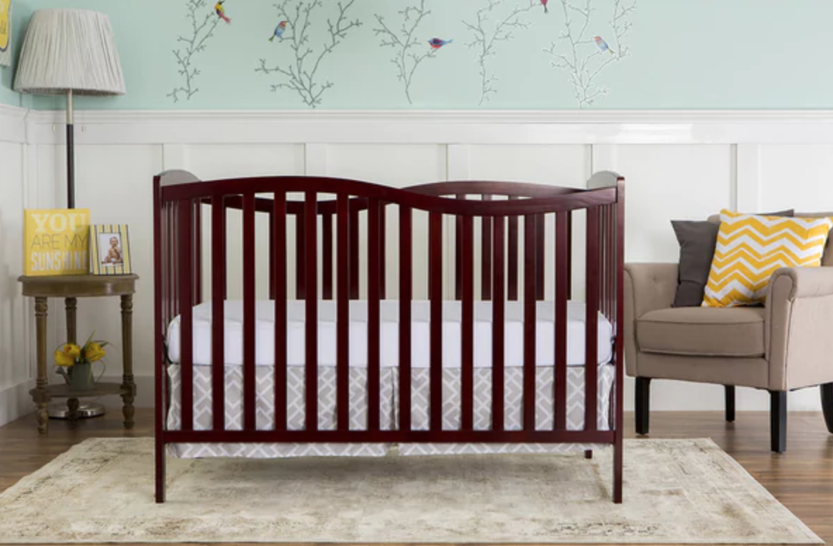 Dream On Me Chelsea Cherry 5-in-1 Convertible Crib