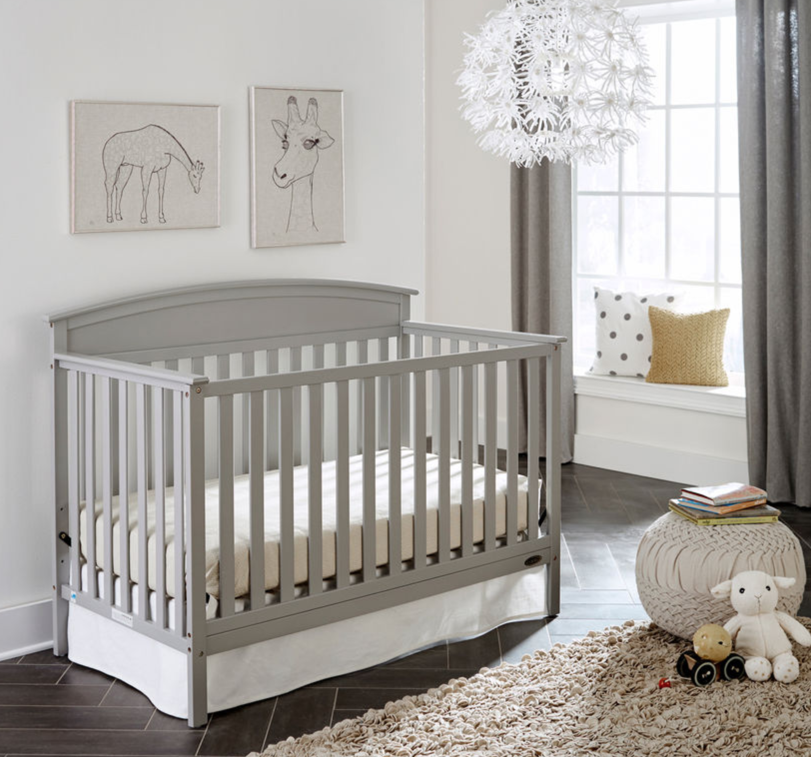 Benton 5-in-1 Fixed-Side Convertible Crib