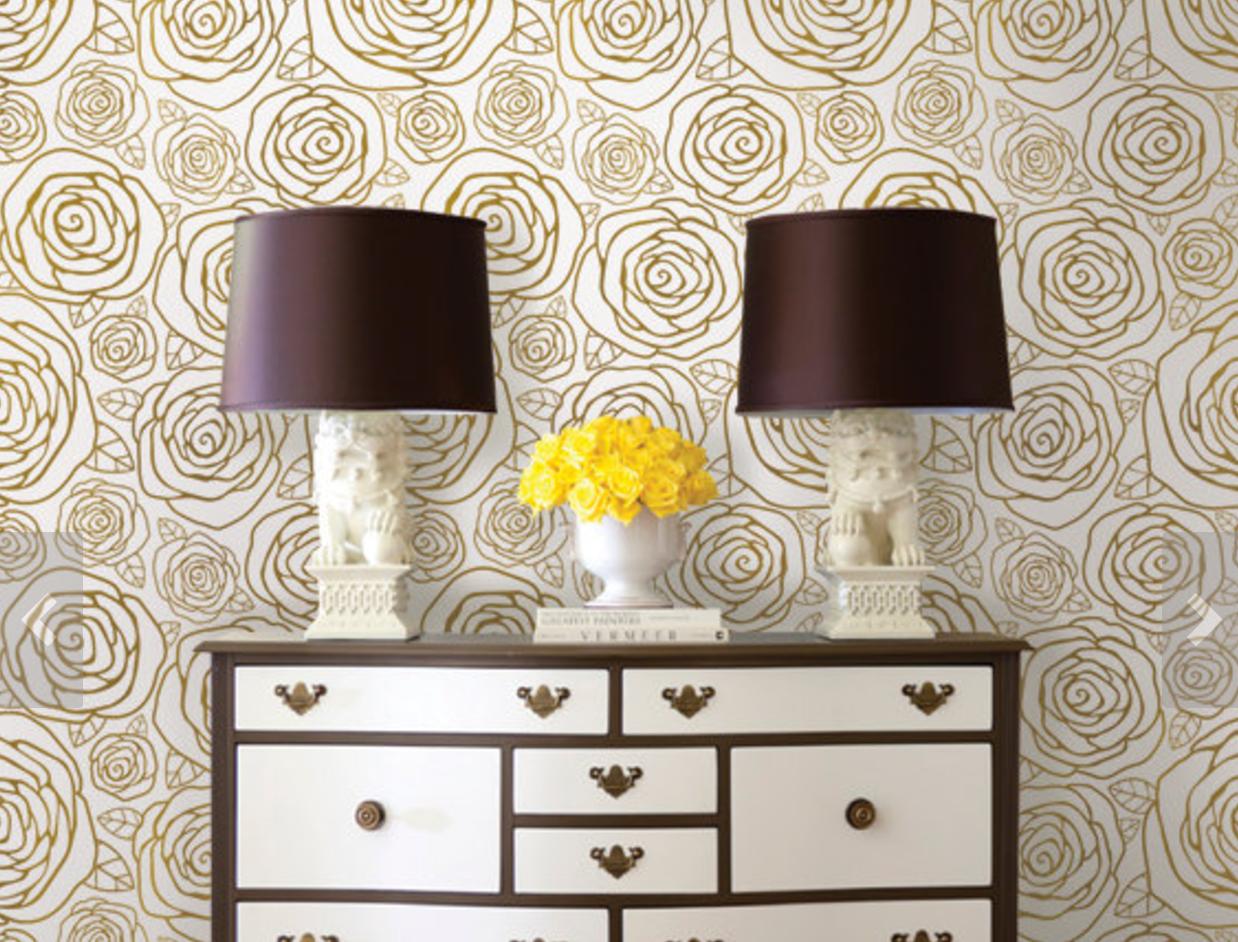 Gold Roses Wallpaper