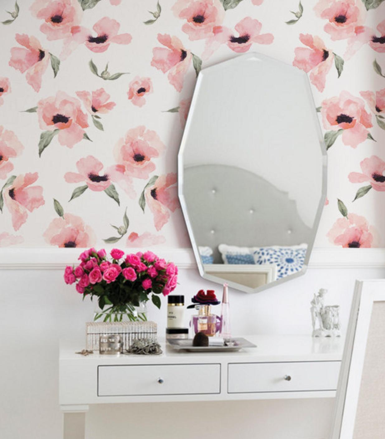 Floral Poppy Wallpaper