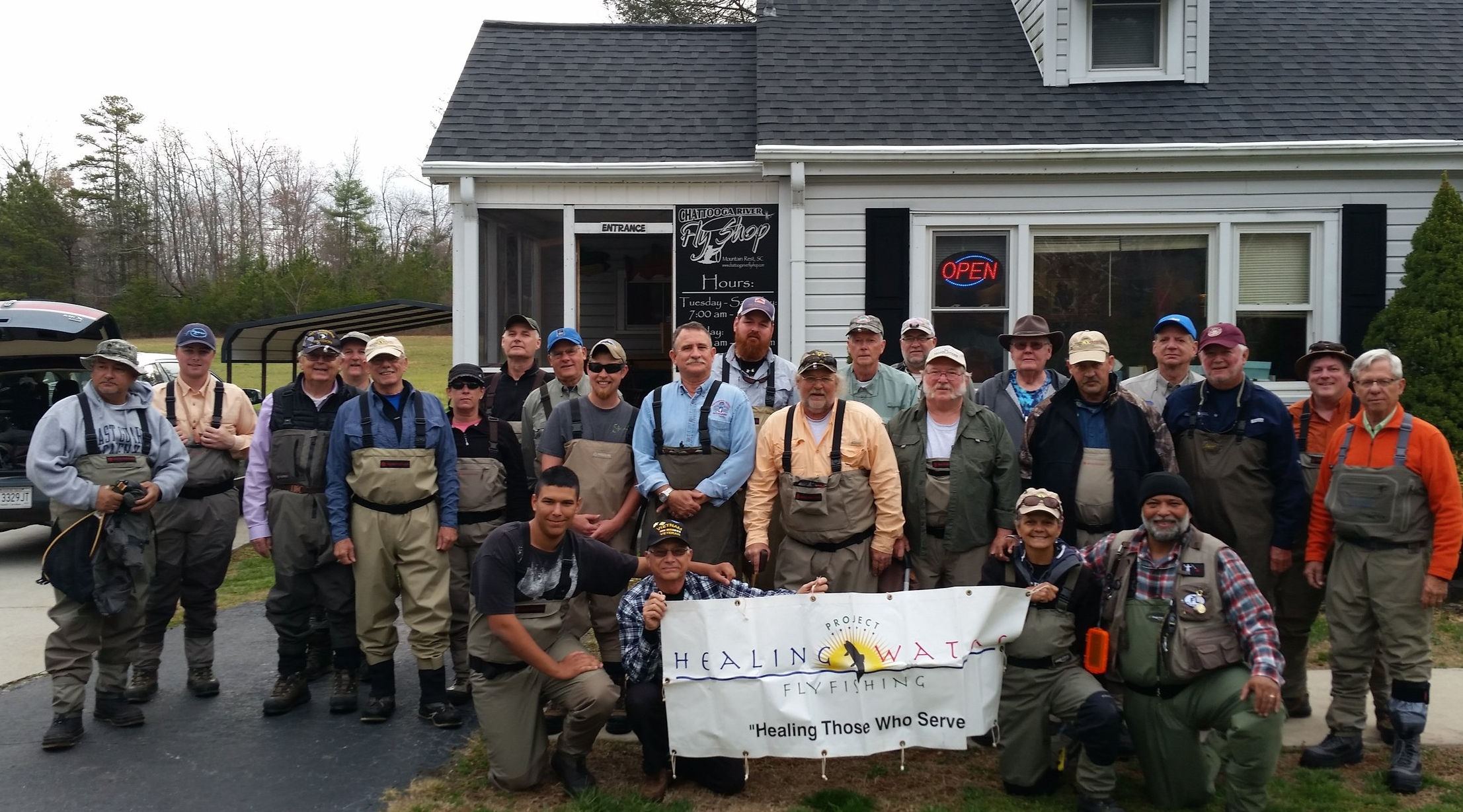 Project Healing Waters Outing with PHW Chapter from Tampa, Florida