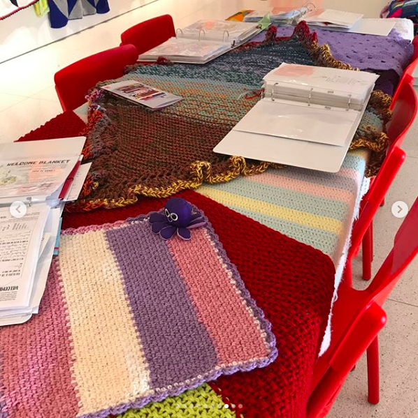 We have binders and binders of welcome notes and stories. All are being recorded and numbered to match with their blankets. Come on in and read some.