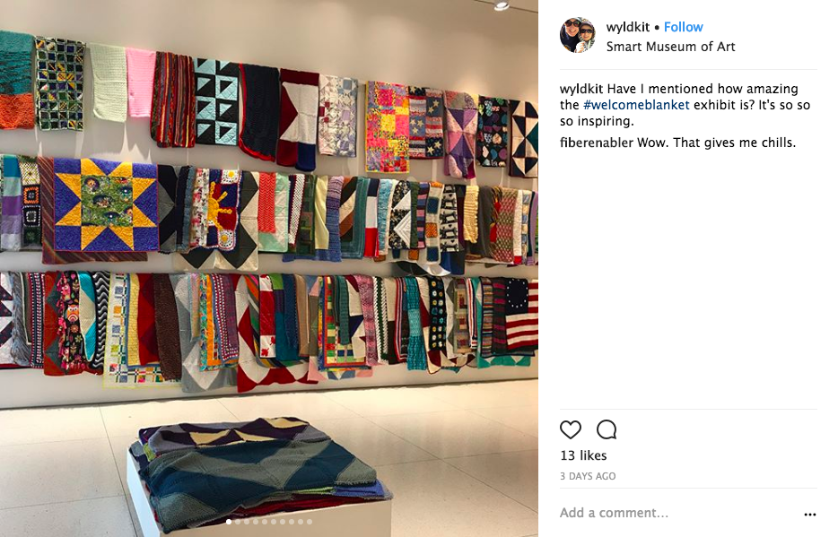 Here's what the Welcome Blanket show looked like on September 27. We are so grateful for all of the incredible creativity, work and kindness of those involved in the project.