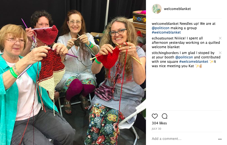 Welcome Blanket is all about collaboration and inclusion. Here's a pic from Politicon.