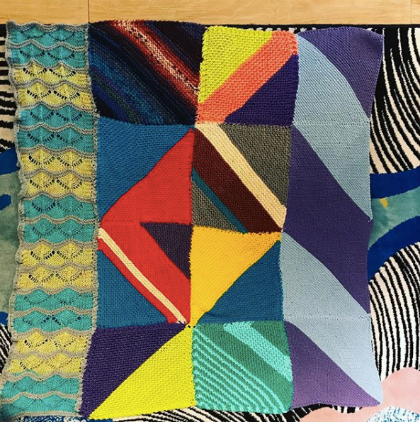 This blanket from @lovelyarns is a wonderful group effort. Can you imagine how wonderful it will be to receive this gem and its accompanying stories and words of welcome?