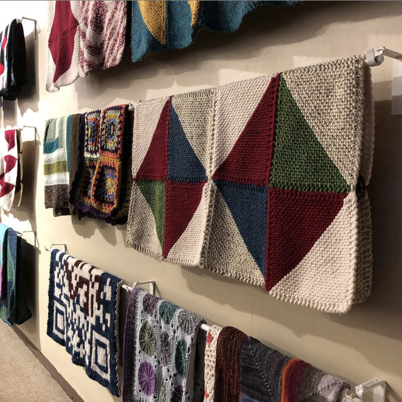 Welcome Blanket at Fuller Craft, our third host!