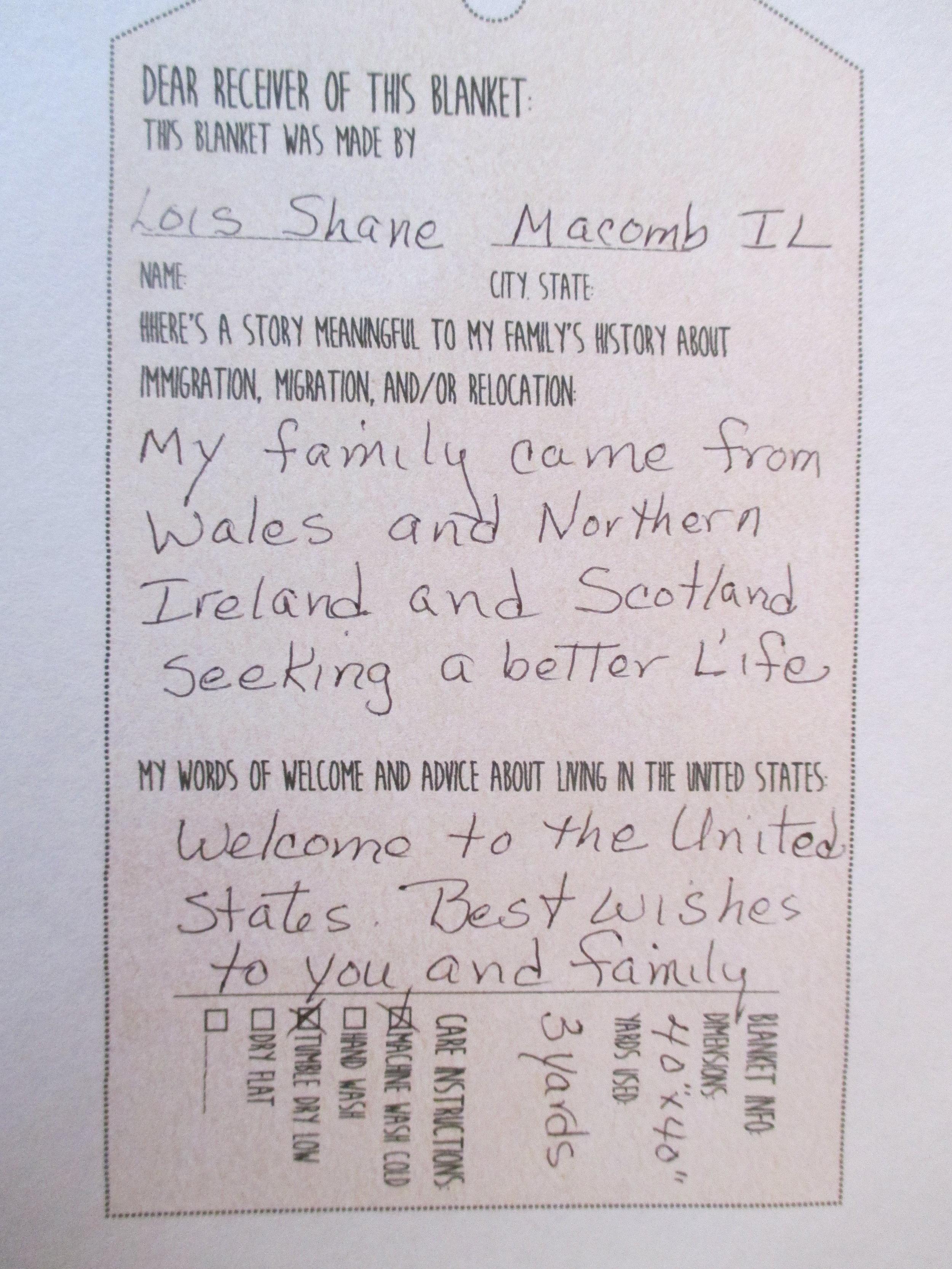 Lois Shane - Macomb, IL