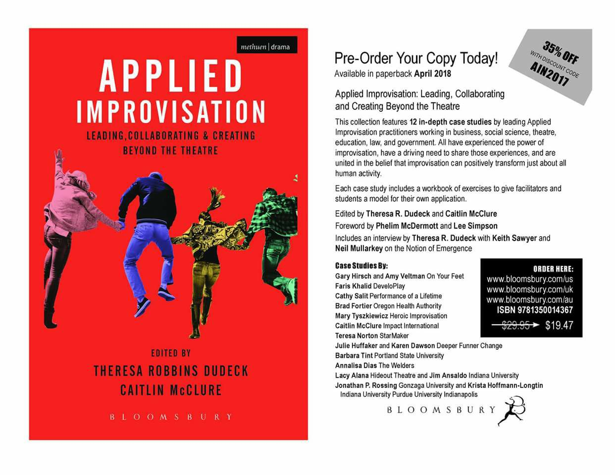 Collaborating and Creating Beyond the Theatre. Chapter: Connect Improv Curriculum, Supporting Youth on the Autism Spectrum & Their Educators