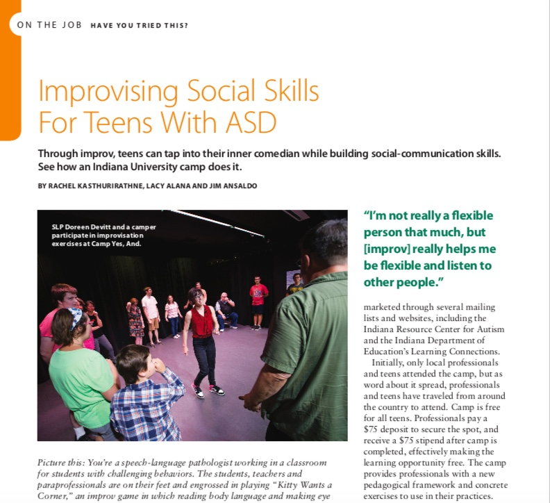Improvising Social Skills for Teens with ASD