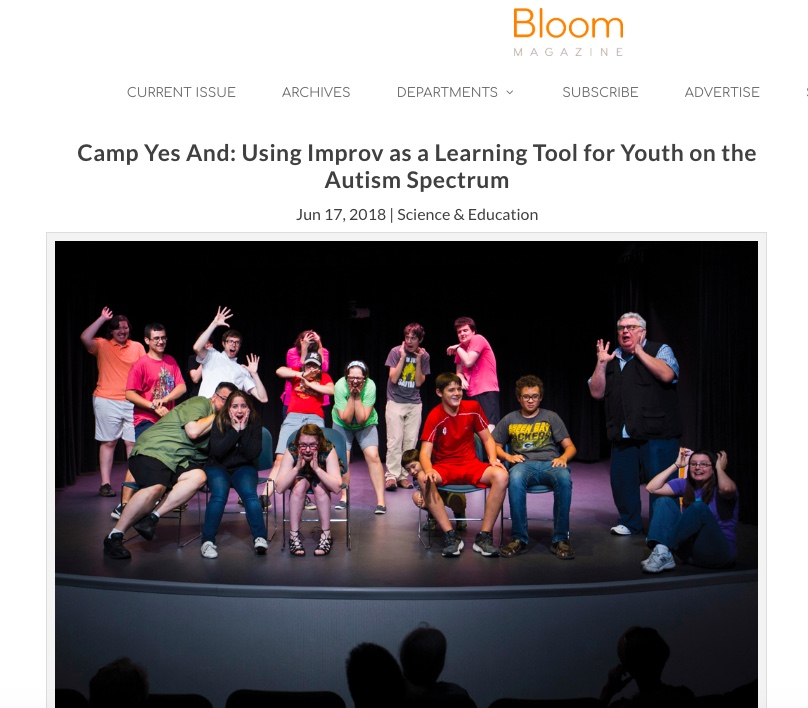Camp Yes And: Using Improv as a Learning Tool for Youth on the Autism Spectrum