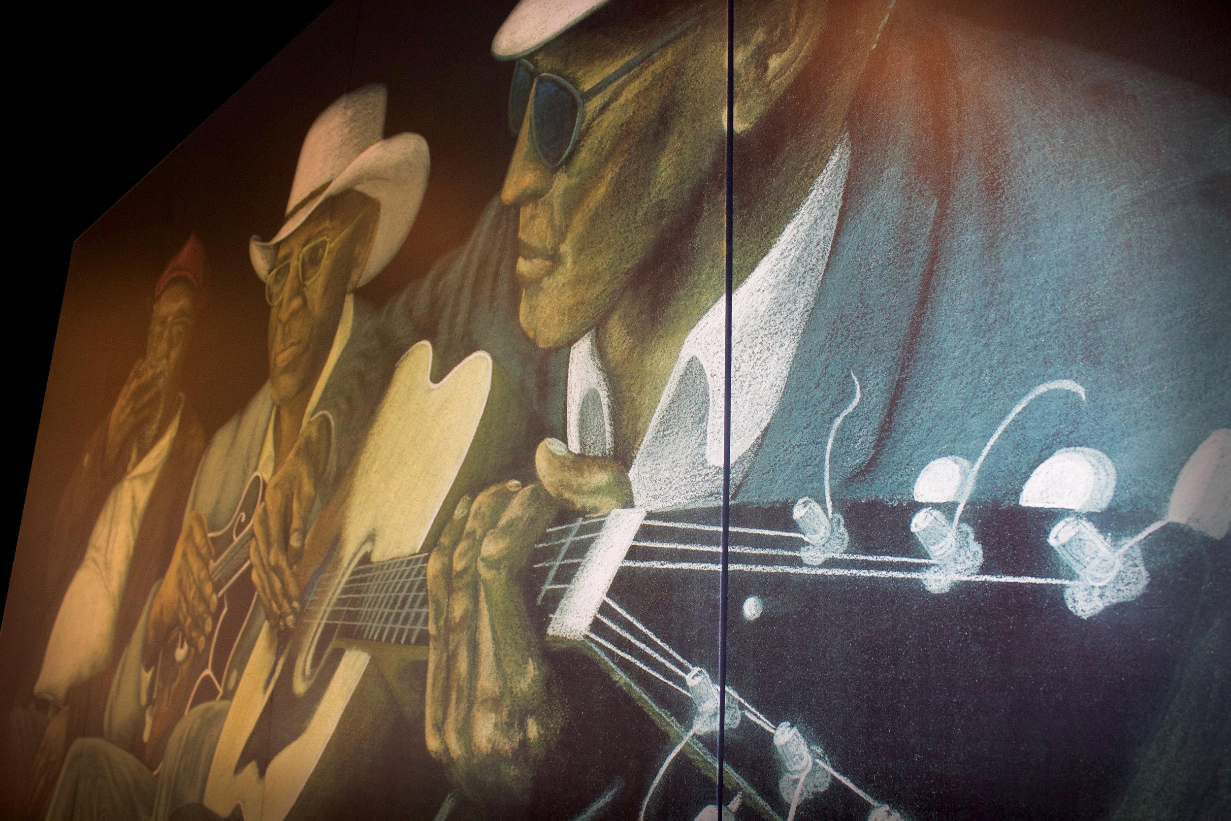 "Mural of ""Sleepy"" John Estes"""