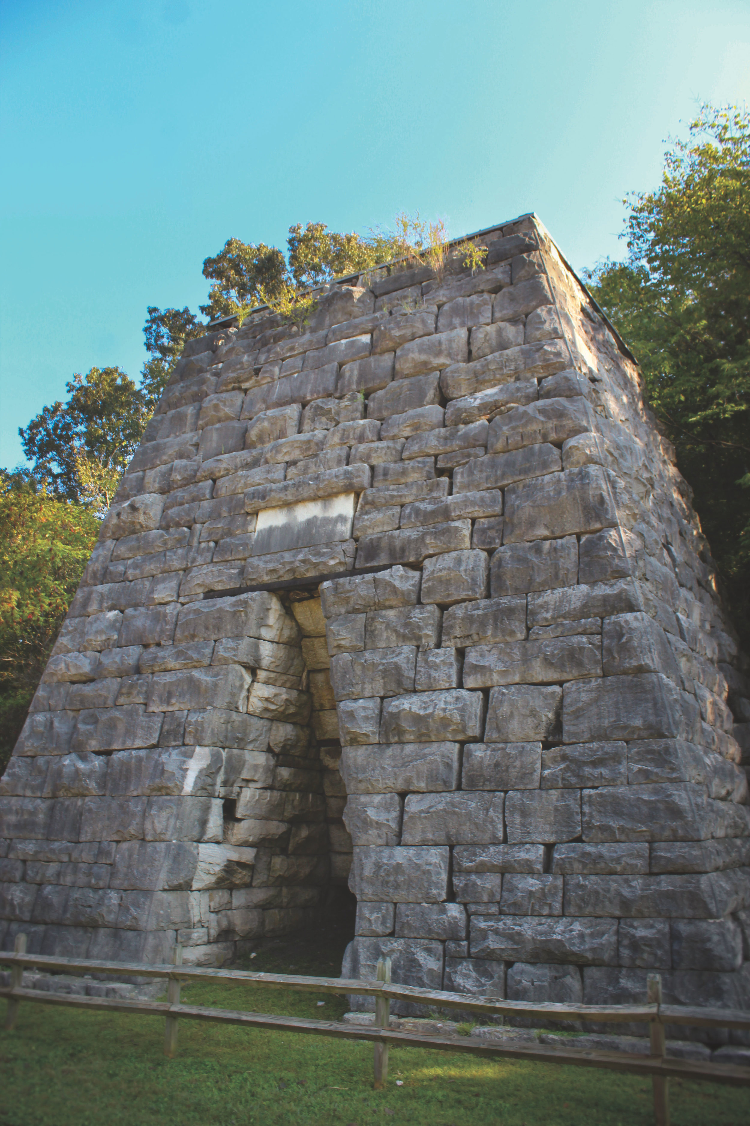 Between the Planetarium and the Homeplace, the Great Western Furnace is the only standing iron works furnace left at LBL.