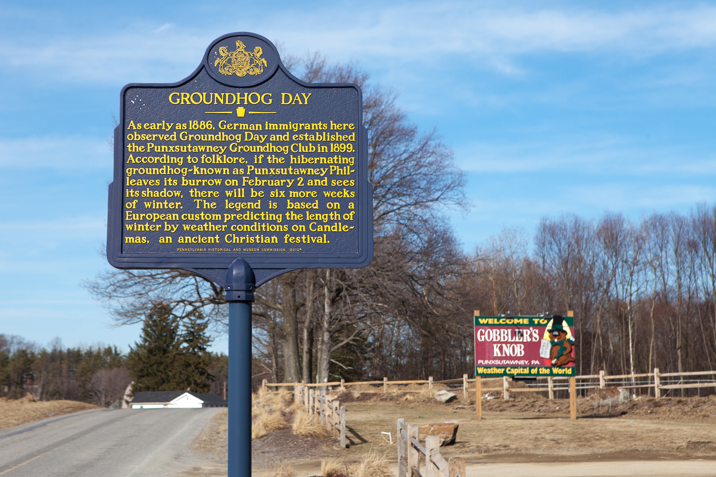 Groundhog Day in the US was first celebrated here in Punxsutawney, PA in the late 1800s.