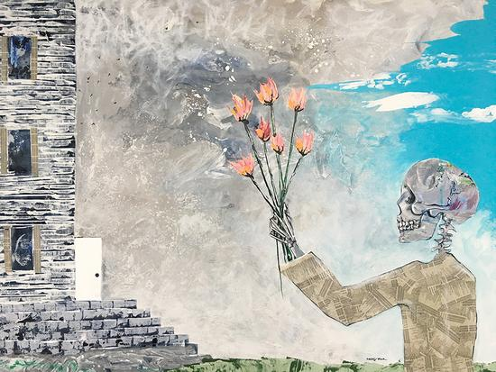 Sleeping Sickness Painting - Sarah Goodyear - Blind Spot Creatives Poem